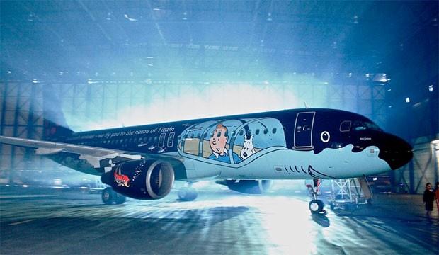 Un Airbus A320 aux couleurs de Tintin