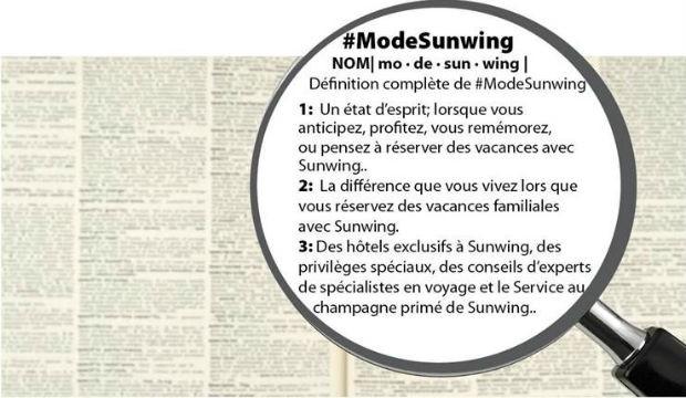 Lancement de la campagne de publicité #ModeSunwing