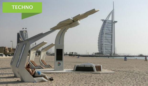 Dubai: des « palmiers » qui offrent le Wi-Fi aux vacanciers sur la plage