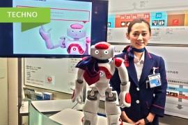Le robot Nao reçoit les passagers de JAL à Tokyo Haneda