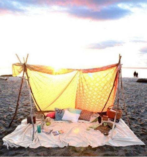 un drap plat pour la plage