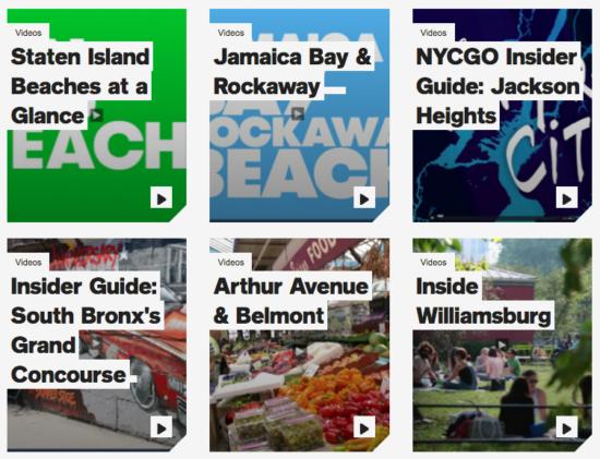 le site web de loffice de tourisme de newyork se refait