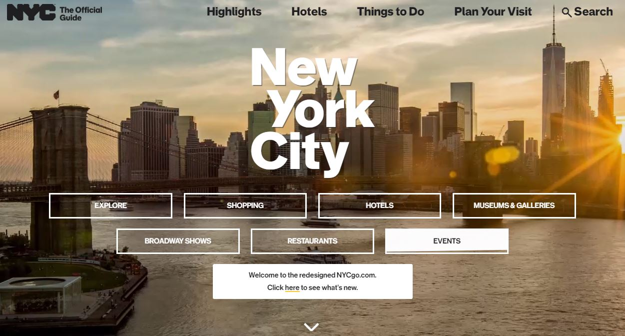 Le site web de l 39 office de tourisme de new york se refait une beaut profession voyages - Office de tourisme sicile ...