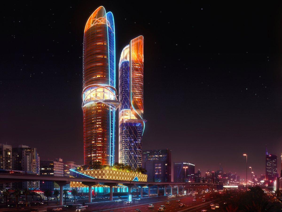 dubai construit le premier hotel avec foret tropicale integree