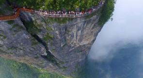 Chine. La vertigineuse passerelle du mont Tianmen