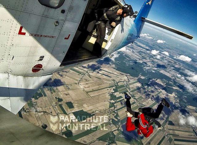 saut en parachute montreal