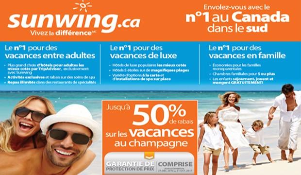 Saviez-vous que Sunwing est n° 1 au Canada dans le sud?
