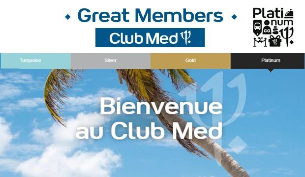 Club Med lance un nouveau statut 'Great Members'* Platinum