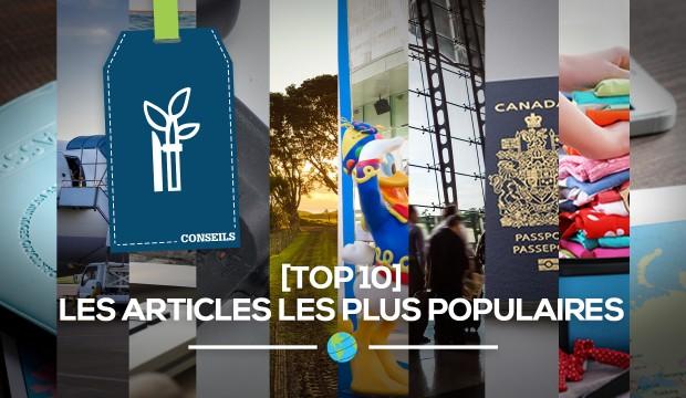 [TOP 10] des articles les plus populaires sur Profession Voyages