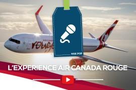 L'expérience Air Canada Rouge