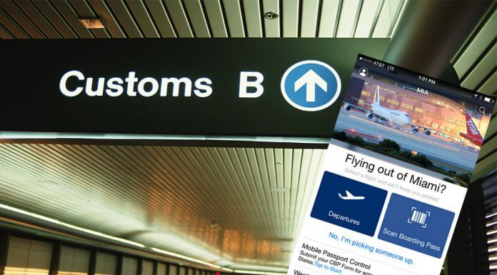 aeroport miami passeport smartphone