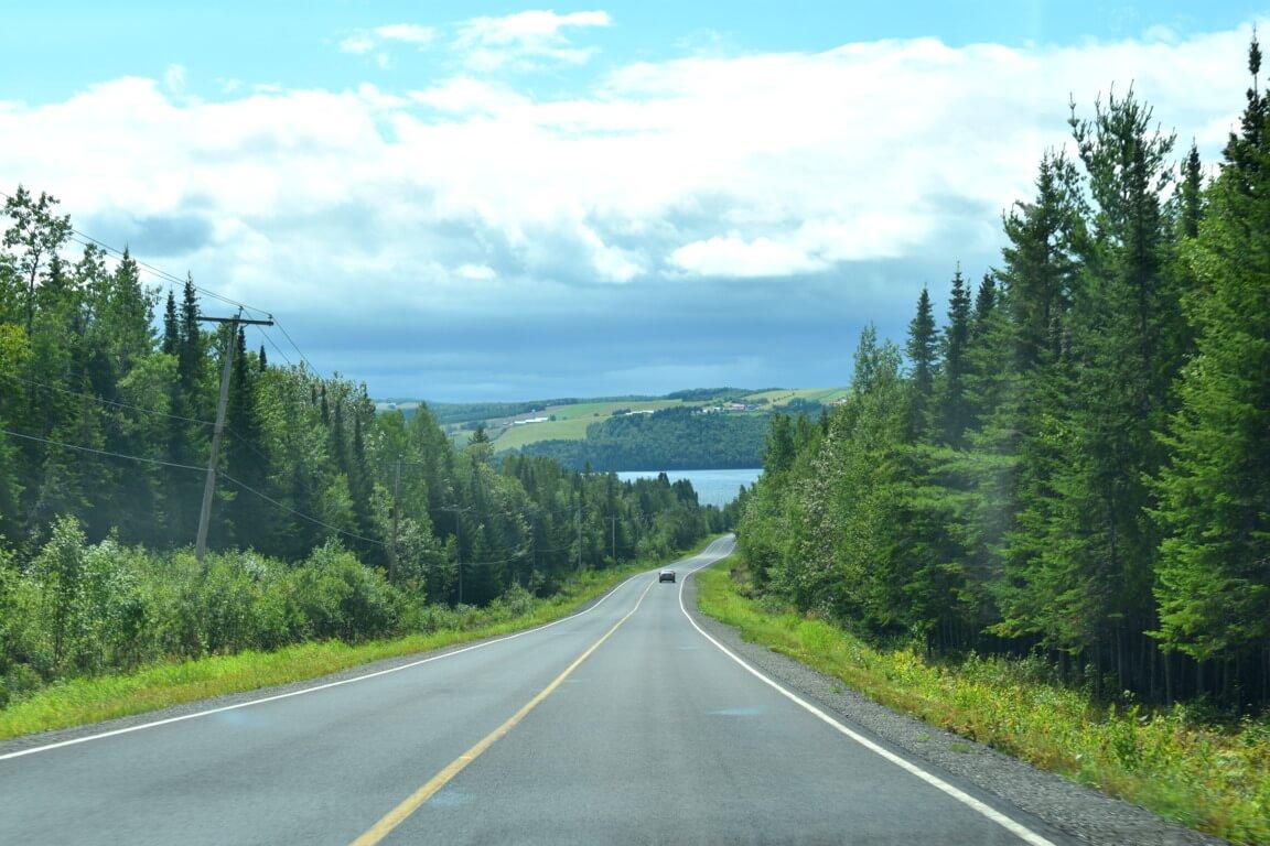 Route d'Auclair Témiscouata Canada