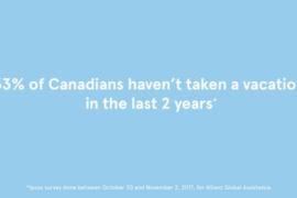 33 % des Canadiens n'ont pas pris de vacances depuis deux ans: Transat réagit!
