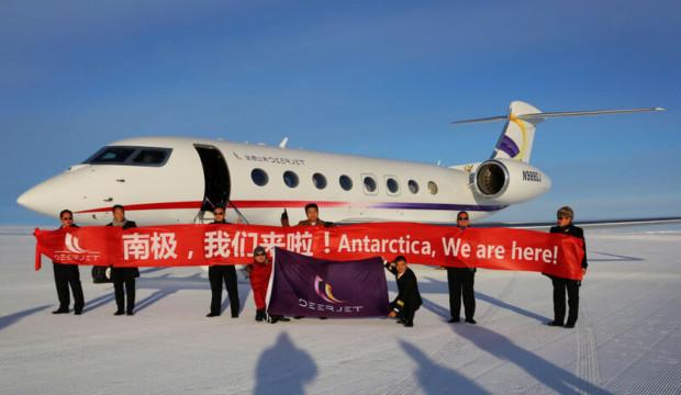 Deer Jet entre dans l'histoire avec un atterrissage inaugural dans l'Antarctique