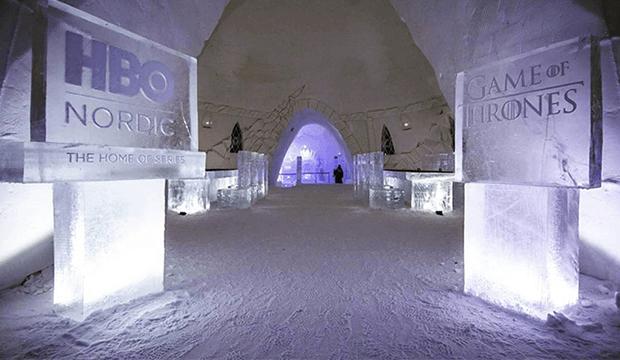 Découvrez les incroyables images de l'hôtel de glace « Game of Thrones »