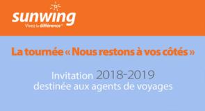 [Tournée] La tournée Sunwing au Québec du 30 avril au 10 mai