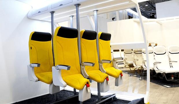 Skyrider 2.0: les nouveaux sièges pour voyager debout en avion.