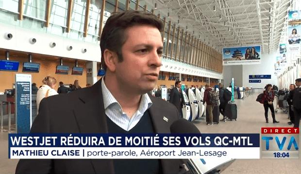 Liaison Montréal-Québec: WestJet coupe son nombre de vols de moitié