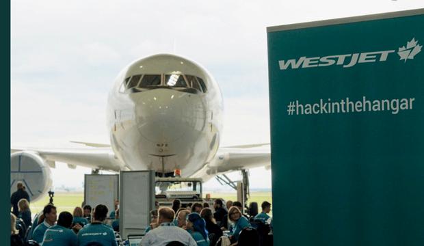 Westjet veut se positionner comme la compagnie aérienne «techno» avec #hackinthehangar