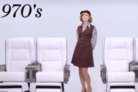 100 ans d'uniformes d'agents de bord