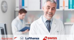 Vous êtes médecin? Faites le savoir et bénéficiez d'avantages sur Swiss Air et Lufthansa