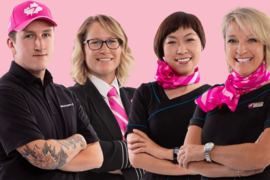 WestJet porte de nouveau du rose pour le mois d'octobre