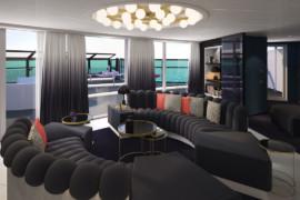 Virgin Voyages présente ses impressionnantes suites RockStar à bord du futur Scarlet Lady
