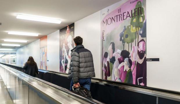 Nouvelle exposition à l'aéroport Montréal-Trudeau pour faire patienter les voyageurs