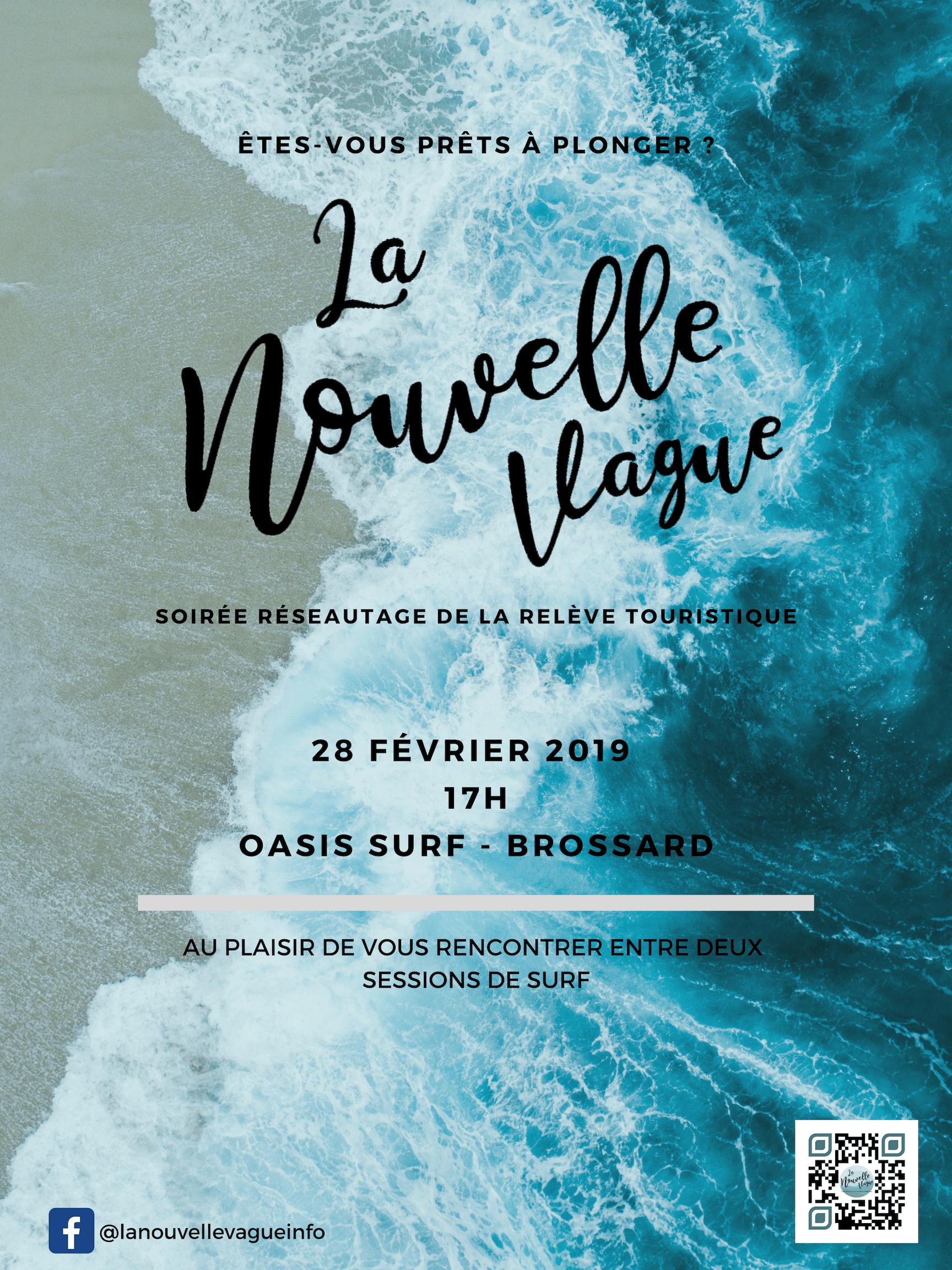 """Réseautage avec """"La Nouvelle Vague"""" et Profession Voyages @ Oasis surf"""