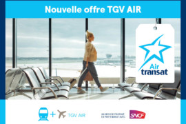 Air Transat: le service TGV AIR est maintenant disponible en France et en Belgique