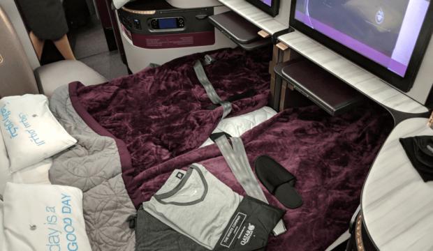 On a testé pour vous la nouvelle QSuite de Qatar Airways: 4000$ mais un confort inégalé!