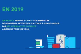 Air France s'engage à supprimer 210 millions d'articles en plastique à usage unique d'ici fin 2019