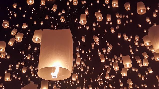 Chiang Mai festival lanternes