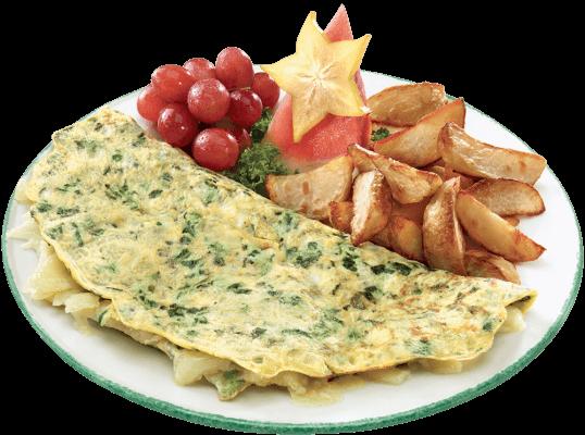 omelette épinards cheddar cora