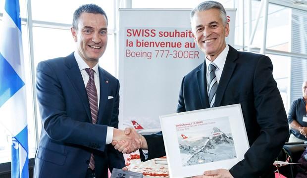 Envol du nouveau Boeing 777-300ER au départ de Montréal vers Zurich