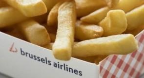 Des frites et des gaufres dans les avions belges!