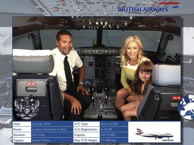 british airways invite les passagers à prendre des photos dans leur cockpit