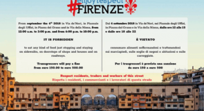 La ville de Florence interdit de manger dans les rues du centre historique sous peine d'amende
