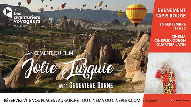 """<span style=""""color: #a0ce4e;"""">[ÉVÉNEMENT]</span> 🎉  Lancement du film Jolie Turquie avec Geneviève Borne @ Cinema Cineplex Odéon, Quartier Latin, Montréal"""