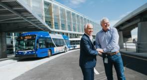 L'aéroport de Québec est maintenant accessible en transport en commun depuis les gares voisines