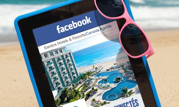 Sandos lance son groupe Facebook dédié aux agents de voyages Canadiens
