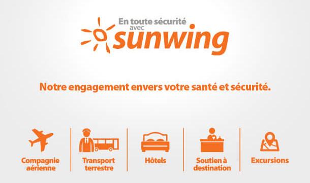 """Sunwing présente son nouveau protocole sanitaire pour des vacances """"En toute sécurité"""""""