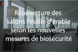 Le salon Feuille d'érable de l'aéroport de Montréal rouvrira d'ici l'automne: voici un aperçu des protocoles de biosécurité