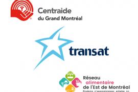 Transat a fait un généreux don de nourriture à Centraide, pour la Grande Boucle Solidaire de l'Est de Montréal