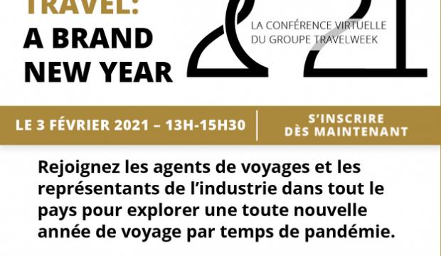 La nouvelle conférence virtuelle 'Future of Travel' prévue pour le 3 février!