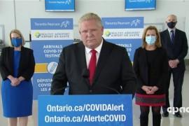 Le premier ministre de l'Ontario annonce de nouvelles restrictions et des points de contrôle pour les voyages interprovinciaux